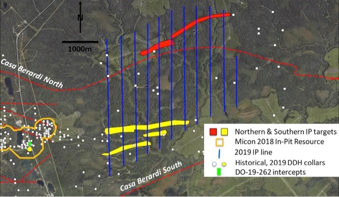 Maple Gold defines new NE target based on results of winter 2019 Induced Polarization program